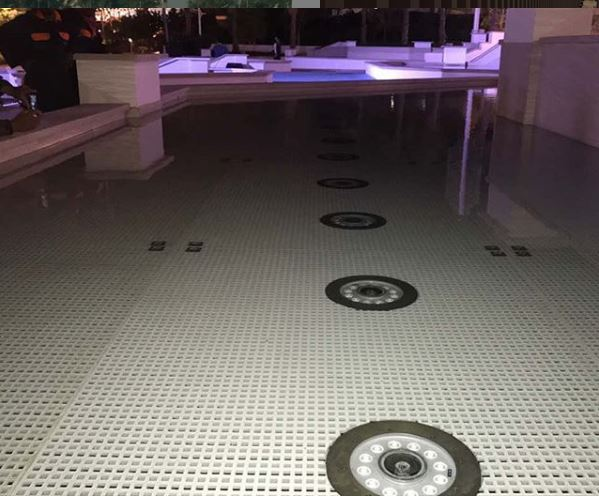GRP water fountain platform